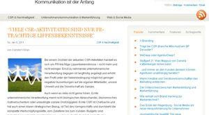 CSR Maßnahmen: PR vs. echte Absichten
