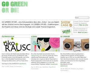 Artikelbild für: Go Green or Die – Produkte, Projekte & Ideen rund um Ökologie und soziale Themen!