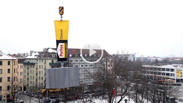 Artikelbild für: Pattex Promotion: Die Tube am Kran!