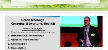 Videos und Präsentationen der greenmeetings und events