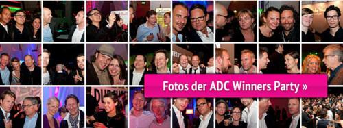 Artikelbild für: Fotos der ADC Winners Party