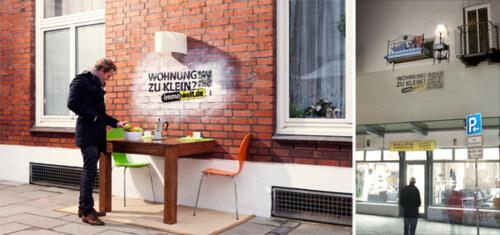 Artikelbild für: Wohnung zu klein? – Guerilla Aktion & 3D Installation von immowelt.de in Hamburg