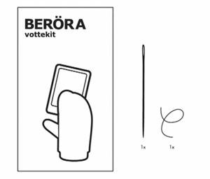 """Artikelbild für: IKEA Promotion Nähset: so funktionieren Touchscreens auch mit Handschuhen – """"BERÖRA"""""""
