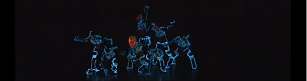 Artikelbild für: LED Tanz-Inszenierung – Tron Inspired Light Suit Dance Routine