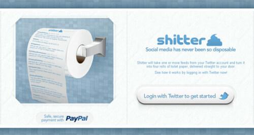Artikelbild für: Tweets fürs Klo: Twitter Toilettenpapier mit Shitter