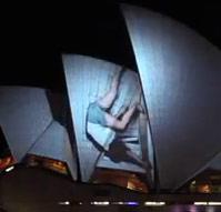 """Artikelbild für: Vivid Festival Sydney – 3D-Show """"Lighting the Sails"""" der deutschen Künstlergruppe URBANSCREEN"""
