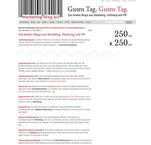 Artikelbild für: Liste der besten Blogs aus Marketing, Werbung und PR