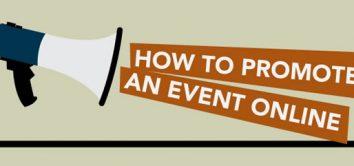 Wie man ein Event im Internet promotet - Infografik