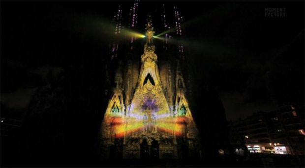 Artikelbild für: Fantastisches Projection Mapping auf Gaudí's Sagrada Familia – Ode à la vie