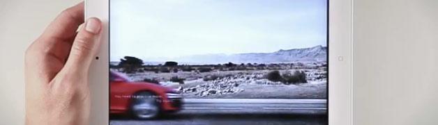 Artikelbild für: Interaktive iPad Werbung: Screenshot vom Audi R8
