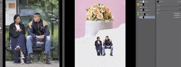 Artikelbild für: Social Media Marketing für Events – Photoshop Live Aktion an einer Bushaltestelle