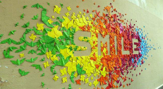 Origami Deko event deko ideen origami streetart mademoiselle maurice