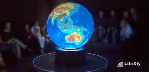"""Artikelbild für: Erdkugel-Projektion & Ausstellungstipp: """"Planet 3.0 – Klima.Leben.Zukunft"""" im Museum Senckenberg"""