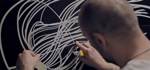 Artikelbild für: Tape Mapping: Installation & Mix aus Tape Art und Videomapping – DEEP SEAS