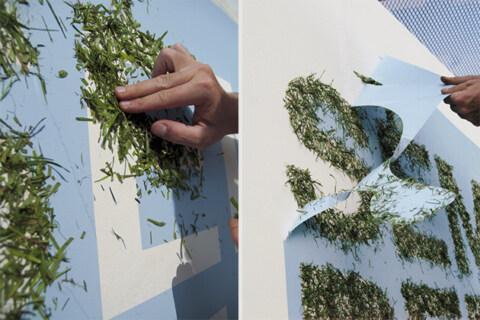Artikelbild für: Event Deko Idee: Schriftzug und Graffiti aus Gras