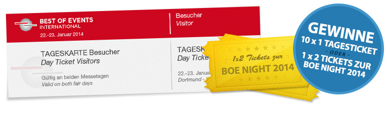 Gewinne Best of Events 2013 Tickets