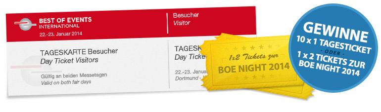 Gewinne Best of Events 2013 Tickets