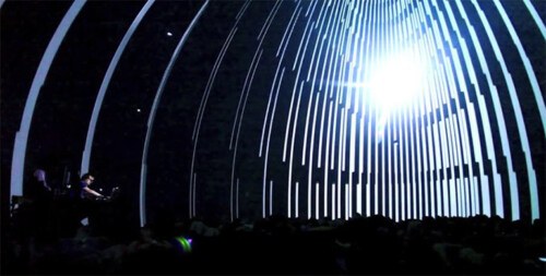 """Artikelbild für: Fantastische audiovisuelle Installation """"Dromos"""", die die mediale Beschleunigung unserer Gesellschaft kritisiert"""