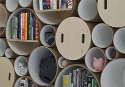 Artikelbild für: Event & Messe Design Ideen: modulares Regal und Wandgestaltung aus Kartonröhren