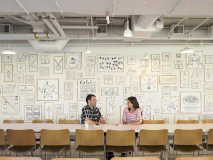 Artikelbild für: Event & Messe Design Ideen: Erinnerungen als Wand-Illustrationen