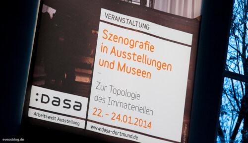 """Artikelbild für: Fotos des DASA Szenografie Kolloquium """"Zur Topologie des Immateriellen"""""""