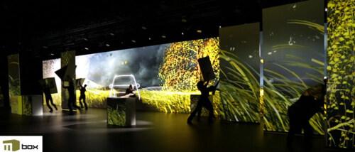 Artikelbild für: Hinter den Kulissen: Inszenierung der Mercedes V-Klasse mit Projection Mapping auf mobilen Bühnenelementen