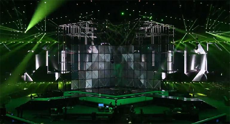 Artikelbild für: Spektakuläre Bühnentechnik beim Eurovision Song Contest 2014 in Dänemark