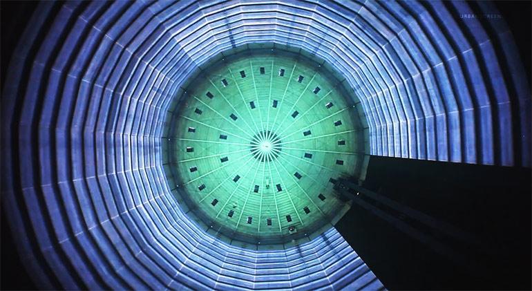 """Artikelbild für: Projektion """"320° Licht"""" im Gasometer Oberhausen"""