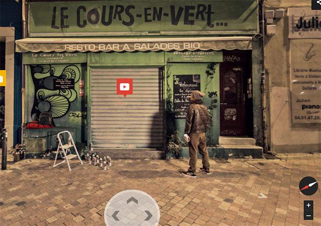Artikelbild für: Streetart in Marseille: audiovisuelle Stadtführung mit Google Street View