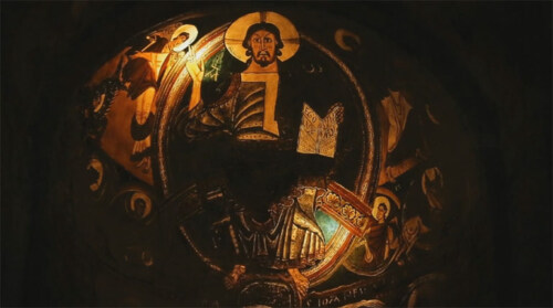 Artikelbild für: Wie Video Mapping Geschichte zum Leben erweckt: Projektion in der Kirche von Sant Climent de Taüll