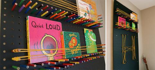 Artikelbild für: DIY Event- & Messe Design Ideen: Lochwand mit Buntstiften