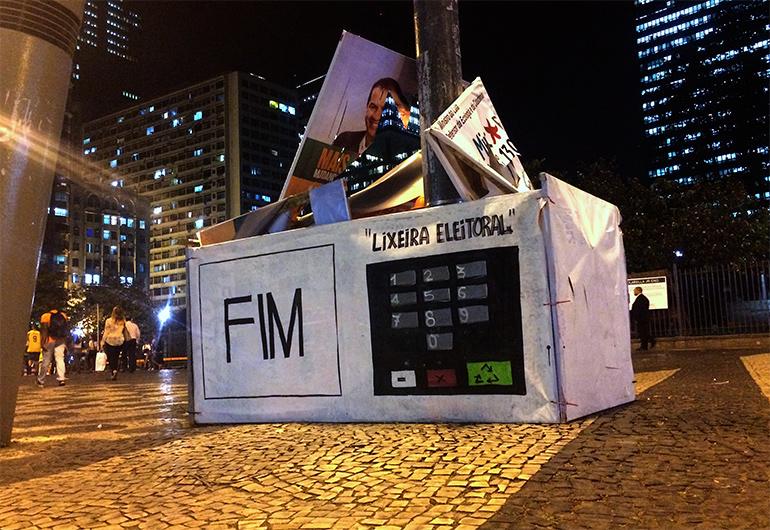 Artikelbild für: Street Art Installation gegen Wahlkampf-Müll