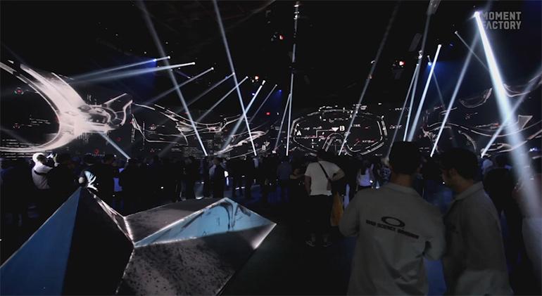 """Artikelbild für: Interaktive Multimedia-Landschaft beim Oakley Event """"Disruptive By Design"""""""