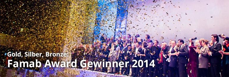Award-Gewinnern auf Bühne