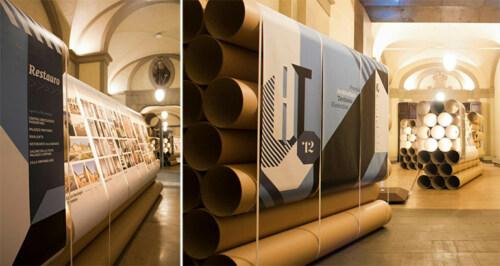 Artikelbild für: DIY Event & Messe Ideen: Stellwand aus Papprohren