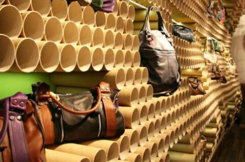 Artikelbild für: Konventionelle Papprohre werden zu unkonventionellem Event- & Raumdesign