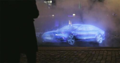 """Artikelbild für: Eine Werbefläche aus Dampf: """"Disappearing Billboards"""""""