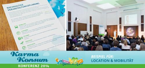 Artikelbild für: Nachhaltige Events – Praxisbeispiel Teil 3: Location & Mobilität im Rahmen der Karma-Konsum Konferenz