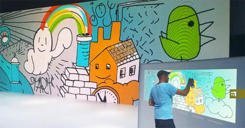 Artikelbild für: Interaktiver Graffiti Screen – visuelle Live-Dokumentation