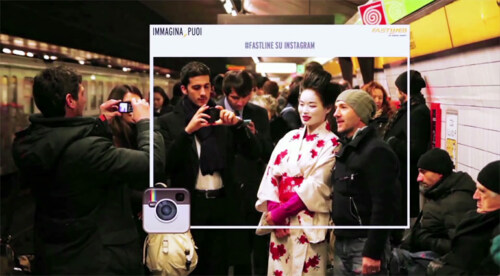 Artikelbild für: Großartige Promotion in der Mailänder Metro: innerhalb weniger Sekunden von Italien nach Japan