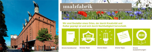 Artikelbild für: Beispiel für gute Nachhaltigkeitskommunikation, die informiert & begeistert: Berliner Location Malzfabrik