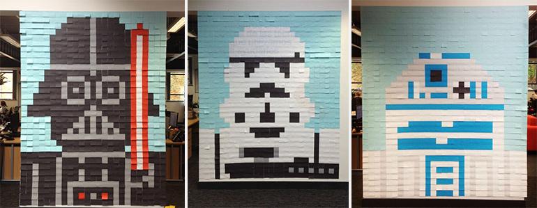 Artikelbild für: DIY Anleitung: Star Wars Helden als Post-it Figuren