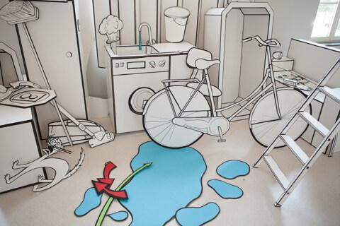 Artikelbild für: Messedesign Ideen: ein begehbarer Comic überrascht & liefert Motive für die sozialen Medien