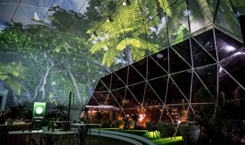 Artikelbild für: Lebendige Mapping Installation: der Digital Forest erweckt einen Raum zum Leben