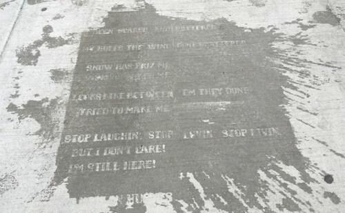 Artikelbild für: Streetart bei Regen: Raining Poetry