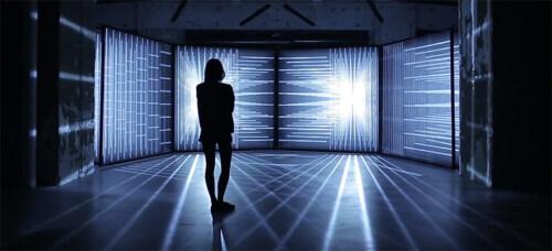 Artikelbild für: Geheimnisvolle Licht- und Klang-Installation vom Studio Nonotak
