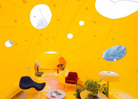 Artikelbild für: Pneumatische Architektur: Eventlocations zum Mitnehmen & Aufblasen – Second Dome