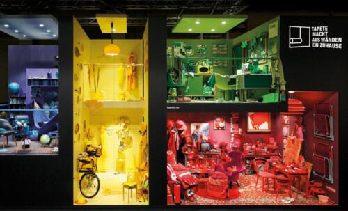 Artikelbild für: Messedesign: Mut zu Farbe & Inhalten – Deutsches Tapeten-Institut auf der imm cologne 2016