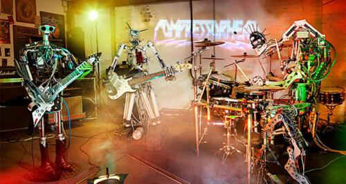 """Artikelbild für: Roboter Rockband """"Compressorhead"""""""