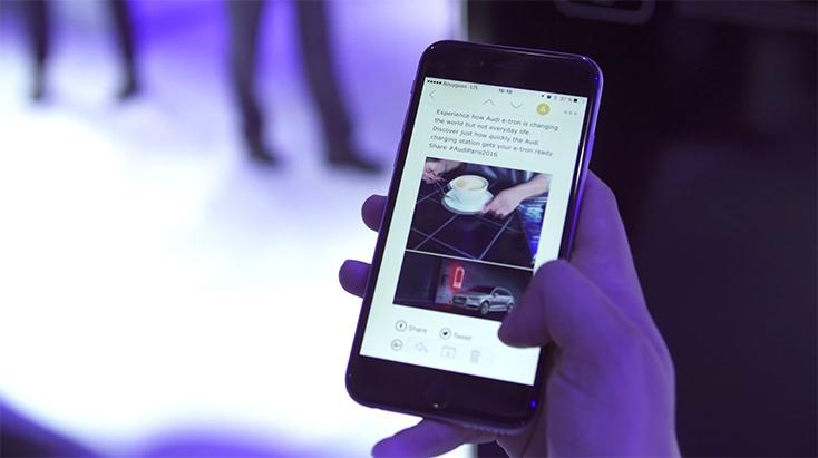 """Artikelbild für: Digitalisierte Messen: Nutzen oder technische Spielereien? Beispiel """"Audi Experience Pass"""""""